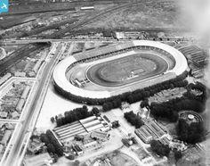 The White City Olympic Stadium, Shepherd's Bush, 1928 Old London, West London, Bristol Rovers, British Football, Shepherds Bush, London History, White City, Football Stadiums, The Old Days