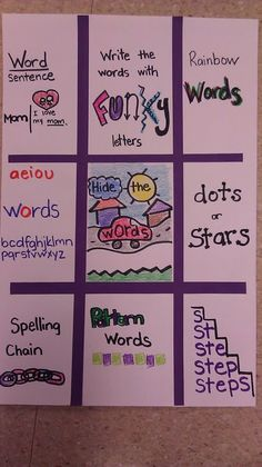Word Work activities for Daily 5 sight word practice Spelling Word Practice, Grade Spelling, Spelling Words, Spelling Ideas, Spelling Menu, Spelling Homework, Sight Word Games, Teaching Language Arts, Classroom Language