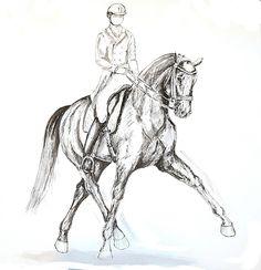 MZ - horse art: Dressage II