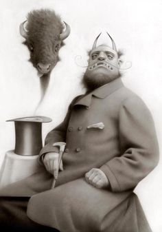 SEATTLE: Travis Louie's Monsters On Their Day Off opens this Friday: vintage surreal and creepy-cool artworks -http://eclectix.com/blog/2013/04/10/travis-louie/