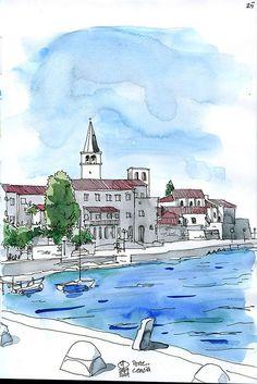 Porec, Croatia (looking towards west)