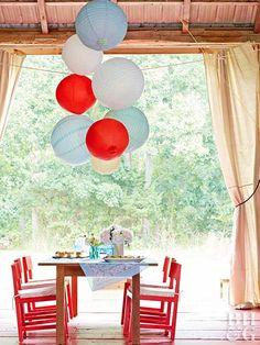 Decorate your home in the spirit of Independence Day with our red, white, and blue 4th of July decorations. These easy decorations cover every July 4th theme you can think of—including flags and fireworks—and they're cute to boot. #fourthofjuly #fourthofjulyideas #fourthofjulyparty #bhg 4th Of July Celebration, 4th Of July Party, Fourth Of July, Patriotic Party, Patriotic Table Decorations, Red Mason Jars, July Flowers, White Flowers, Party Hacks
