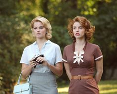 "Laura Cameron and Margaret ""Maggie"" Ryan - Margot Robbie and Christina Ricci in Pan Am, set in 1963 (TV series 2011-2012). Description from pinterest.com. I searched for this on bing.com/images"