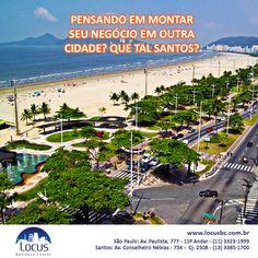 Pensando em montar seu negócio em outra cidade? A LOCUS também está em Santos! #santos #praia #trabalharemsantos #businesscenter #business