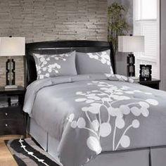 Details About 8pc Hotel Design Black White Grey Comforter