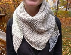 Make this easy and double seed stitch shawl using the just one skein of the incredibly soft Caron Cakes