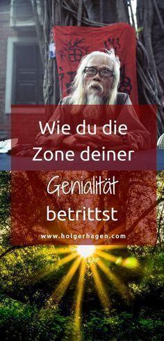 """Vielleicht kennst du diesen oder einen ähnlichen Gedanken: """"Da steckt ein riesengroßes Potenzial in mir, und ich könnte wirklich erfüllt und sehr erfolgreich sein. Einfach mehr sein, als ich jetzt bin."""" Und gleichzeitig ist da die Angst es nicht zu erreichen. Finde heraus, wie du die Zone deiner Genialität betrittst. Lies hier weiter! #genialität #berufung #achtsamkeit #bestimmung"""