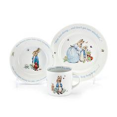 Wedgwood Peter Rabbit Children's Set, Blue