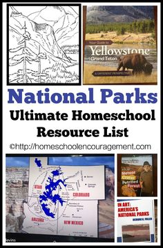 Parks: An Ultimate Homeschool Resource List National Parks - Resource List for Homeschooling Families or LearningNational Parks - Resource List for Homeschooling Families or Learning Just Dream, Homeschool Curriculum, Homeschooling Resources, Teaching Resources, Unit Studies, Summer School, School Daze, Home Schooling, Kids Education