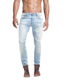 9d67156eb227 Mens Sky Blue Skinny Slim Fit Denim Jeans Pants - Skylinewears