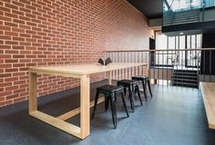 "Geneva table supports break out spaces at ""The Braggs"", University of Adelaide. University Of Adelaide, Adelaide South Australia, Property Development, Geneva, Office Ideas, Spaces, Education, Architecture, Table"