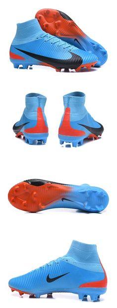 huge discount 24ee7 a51da Nike Mercurial Superfly V FG Homme Crampons Football Bleu Noir Zapatos De  Fútbol, Zapatos Nike
