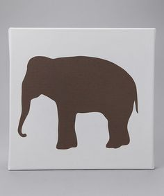 Take a look at this avalisa Brown Elephant Silhouette Canvas Wall Art by Modern Nursery: Furniture & Décor on #zulily today!