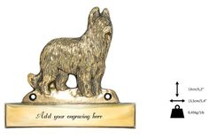 Briard dog plaque can be engraved limited by ArtDogshopcenter