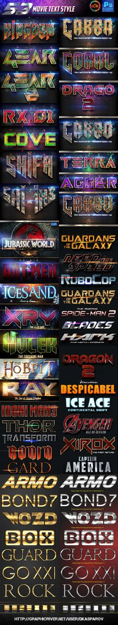 53 Movie Text Style Bundle - Text Effects Styles