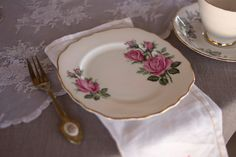 The Silver Tea Spoon A Vintage Affair Vintage Tea, Tea Party, Spoon, Stuff To Do, Plates, Tableware, Flowers, Silver, Licence Plates