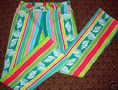 LILLY PULITZER SLIM STRETCH JEANS SHORELINE... a little wild but so cute!