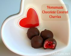 Homemade Chocolate Covered Cherries - 3 Ingredients!! eventstocelebrate.net