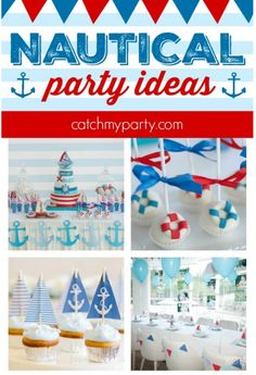 12 Must See Nautical Party Ideas | CatchMyParty.com