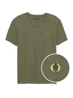 fa7691b4d Banana Republic Mens Star Logo Graphic T-Shirt Green Star Logo
