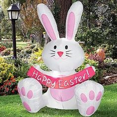 Superior Easter Bunny. Everyone Needs A 4 Foot Inflatable Easter Bunny In Their Yard.  Everyone