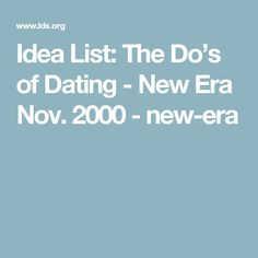 Is dating dead new era