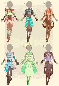 Outfit adopts : CLOSED by MMtheMayo.deviantart.com on @DeviantArt