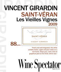 Vincent Girardin Saint-Véran les Vieilles Vignes 2009
