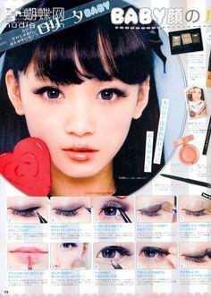 innocent makeup look