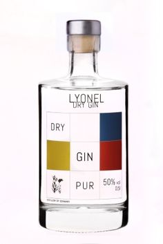 Lyonel Dry Gin | #packaging #bottledesign #gin
