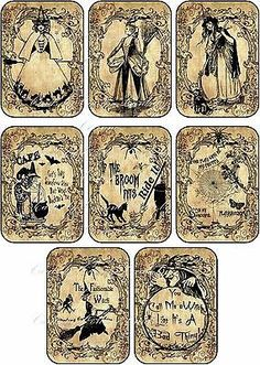Halloween 8 witches labels tags cards scrapbooking party decoration >>> You can find out more details at the link of the image. Halloween Apothecary Labels, Halloween Potions, Halloween Bottles, Halloween Labels, Theme Halloween, Holidays Halloween, Halloween Crafts, Happy Halloween, Halloween Decorations
