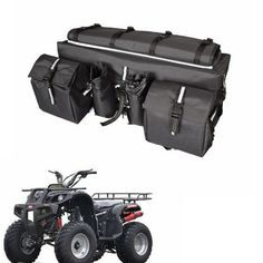 ATV Luggage Bags Tailbag Motorcycle Cargo Bags Quad Bike Luggage 600D Waterproof Fabric Saddlebags