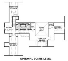Country Farmhouse Ranch House Plan 74834 Level Two