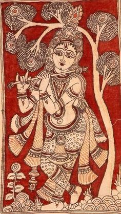Kerala Mural Painting, Tanjore Painting, Krishna Painting, Madhubani Painting, Krishna Art, Buddha Kunst, Buddha Art, Indian Traditional Paintings, Indian Art Paintings