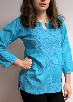 #Embroidered #cotton #tunic #tops are in #fashion for Spring 2017. These classics are here to stay as spring #tunics and summer beach tunics as they are so versatile and stylish. Casual chic comfort in a quality cotton tunic tops  also called #Kurtis which ships from USA with a gift is a sweet deal. Don't miss them at #YoursElegantly on #sale 50% -70% off plus orders over $50.00 get free shipping within the USA – Hurry and stock up on many colors and styles in these elegant day also evening…