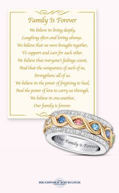 Celebrate your family for always with this beautiful crystal birthstone ring! You can personalize the ring to honor each member of your family. Plus, the center band actually spins for a striking design feature you won't find anywhere else.