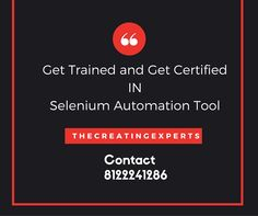 Offers on #Selenium Course at TheCreatingExperts. Click the below link for more details. http://thecreatingexperts.com/selenium-training-in-chennai/