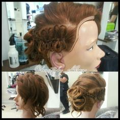 Cute #bows on an #updo by our student, Chelsea. #hair