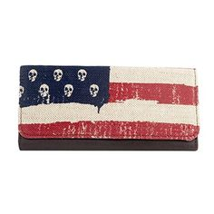Loungefly Skulls and Stripes Wallet