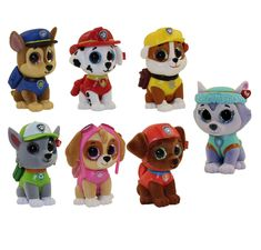 From the Ty Mini Boo Paw Patrol collection. For ages 3 and up - fun for the whole family! Paw Patrol Chase Cake, Ryder Paw Patrol, Paw Patrol Cake Toppers, Rubble Paw Patrol, Paw Patrol Toys, Paw Patrol Party, Paw Patrol Birthday, Paw Patrol Stuffed Animals, Halloween Beanie Boos