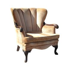 Art Deco Lounge Wing Chair Channel Back French Carved 1930s by silverbranchhome on Etsy https://www.etsy.com/listing/216861674/art-deco-lounge-wing-chair-channel-back