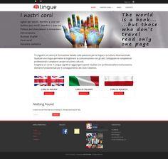 SIto web per TILINGUE, scuola di lingue ,Bioggio, Ticino, Svizzera