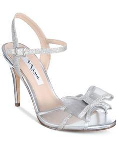 47fffa04a1 Nina Charm Bow Evening Dress Sandals & Reviews - Sandals & Flip Flops -  Shoes - Macy's