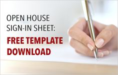 Download these free real estate open house sign-in sheet templates to capture lead information during your event and nurture leads through the sales funnel. http://plcstr.com/1tR7JC4 #realestate #openhouse