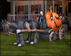 Are you looking for Halloween Inflatable Yard Decorations that will make your Spooky Halloween Fright Night the talk of the town? Come see what's new!