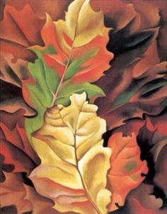 Georgia O'Keeffe- Autumn Leaves, 1924 Featured Artist- Georgia O'Keeffe | Paint Watercolor Create http://paintwatercolorcreate.blogspot.com/2012/11/featured-artist-georgia-okeeffe.html
