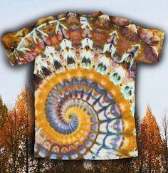 Tie Dye Psychedelic  Earthy Ice Dye T-shirt  Size XXL