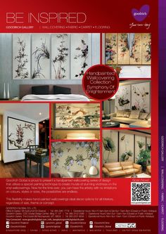 Handpainted Wallcovering Collection, Symphony Of Enlightenment, Goodrich Global - Magazine  Product Featured | Handpainted Wallcovering Collection, Symphony Of Enlightenment   www.goodrichglobal.com   www.facebook.com/Goodrich.Thailand