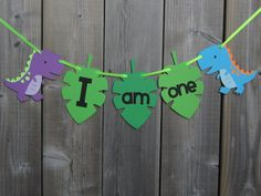 I am one dinosaur high chair banner dinosaur by lilcraftychickadee
