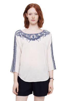 Dava Embroidered Shirt - Club Monaco Long Sleeve - Club Monaco